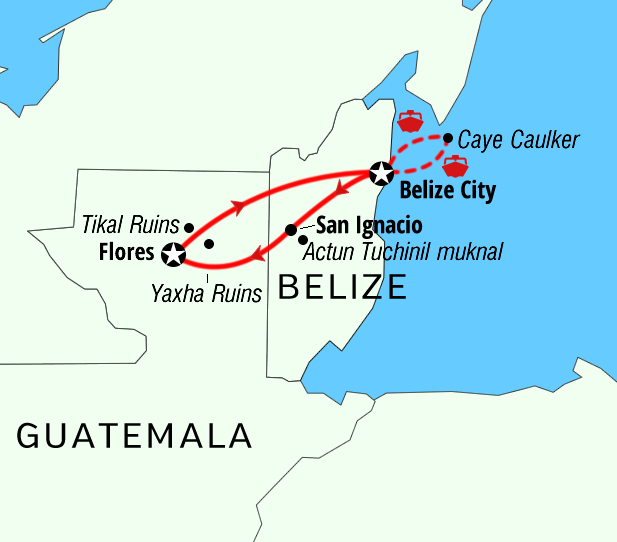 Package adventure Belize Magical