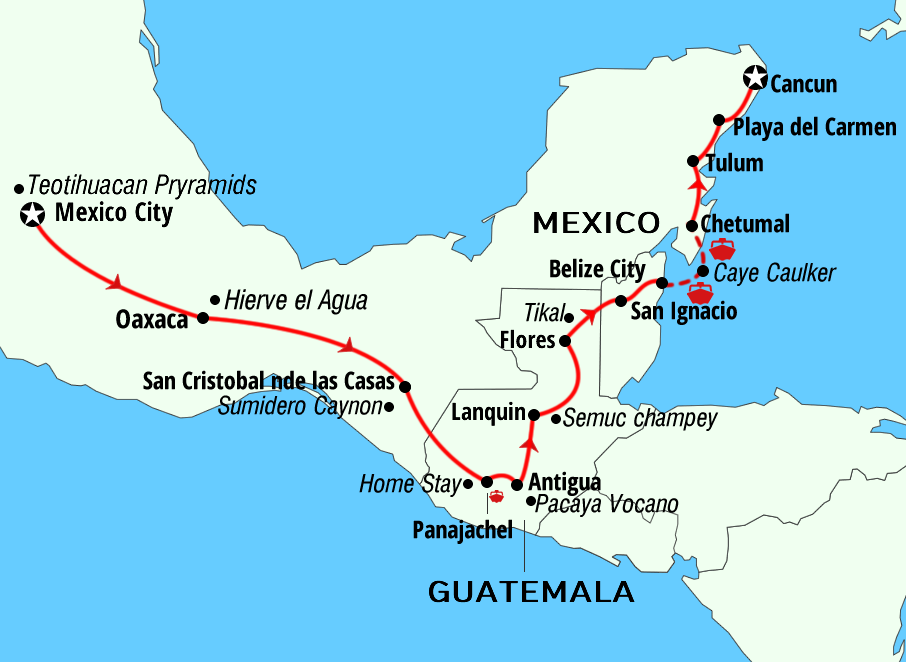 Tour Mexico Belize Guatemala tours Adventures