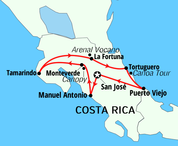 Costa Rica and Panama package holiday adventures active tours