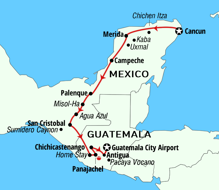 Mexico Guatemala Self guided tours