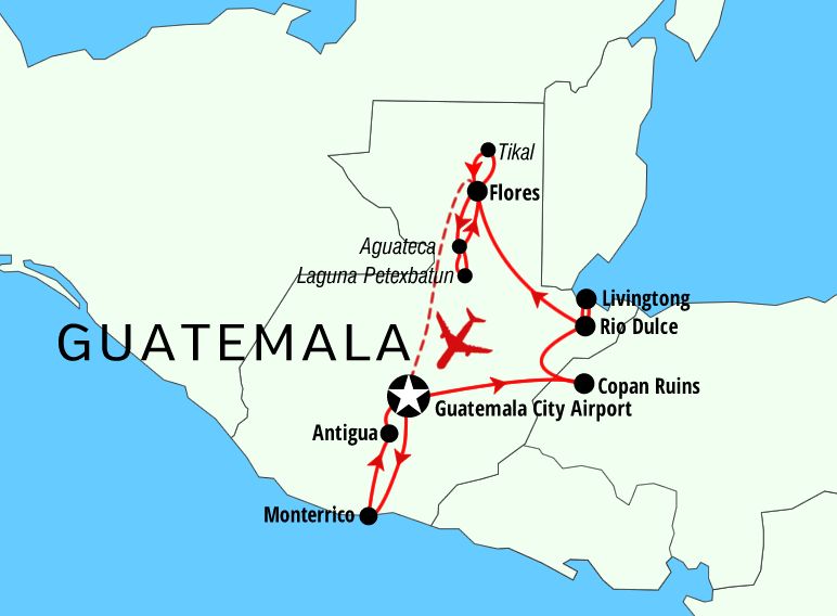 Jungle experience of Guatemala