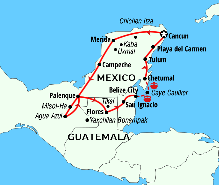 Mayan Small Routes adventures Mexico Guatemala Belize