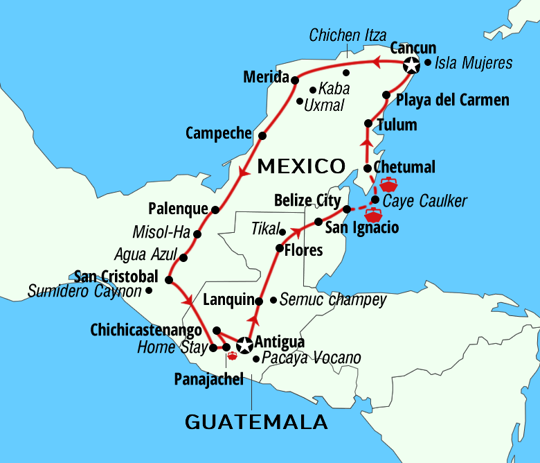 Package adventures Mayan routes