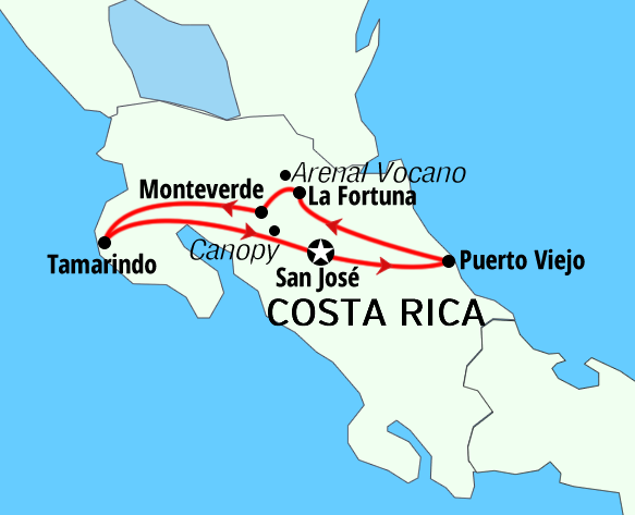 Costa Rica Package adventures trips Pura Vida tours