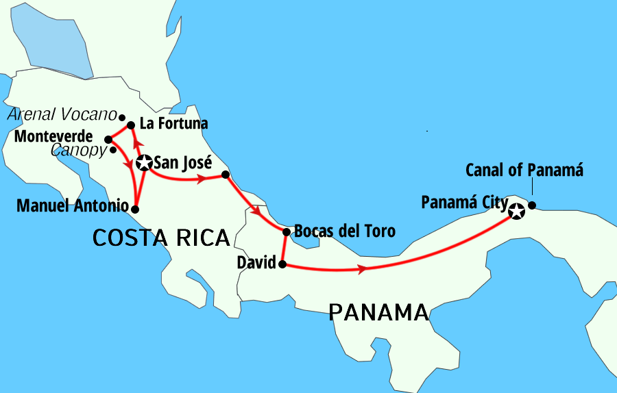 Costa Rica and Panama Ways tours