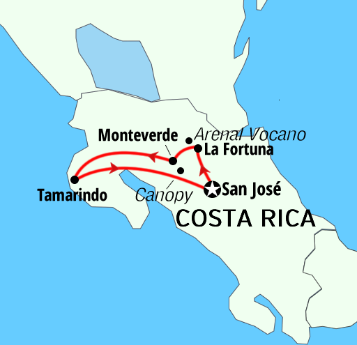 Taste of Costa Rica active adventures holidays tours