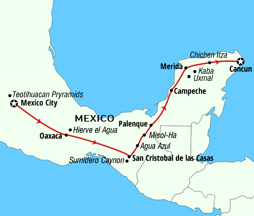 Trip adventures The Routes of Mexico