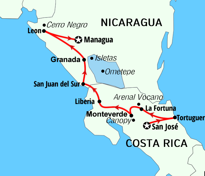The Treasure of Costa Rica and Nicaragua